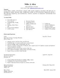 willie resume