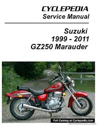 suzuki gz250 marauder cyclepedia printed service manual 800 426 suzuki gz250 marauder electrical system