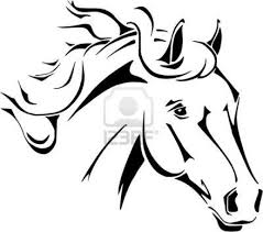 horse head coloring pages to print horse head vector in tribal style royalty free cliparts vectors design