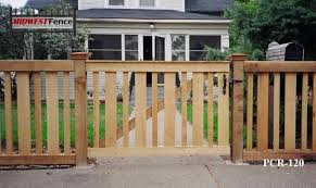 wood picket fence gate. Capped Rail Cedar Picket Fence And Gate Wood I