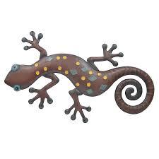 metal gecko wall art set of 12