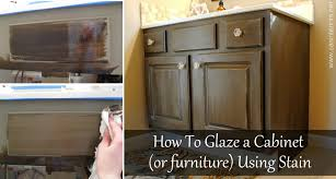 How To Glaze a Cabinet Using Stain Jenna Burger
