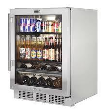 Undercounter Beverage Refrigerator Glass Door Under Counter Fridge With Glass Door