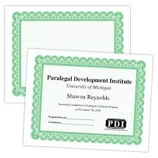 Large Certificate With Border