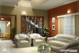 Beautiful Living Room Rendering Kerala Home Design And Floor Plans - Kerala house interiors
