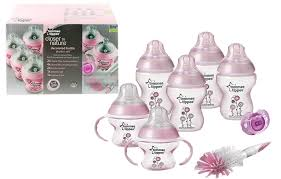 Tommee Tippee Pink Decorated Bottles Tommee Tippee Decorated Bottle Starter Set BabyDots Malaysia 55