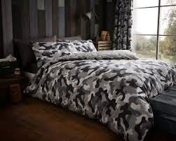 camouflage grey double king super king size quilt duvet cover sets
