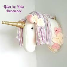 awesome design ideas unicorn head wall decor modern home white nursery room gold pillowfort