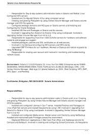 Solaris Administration Sample Resume Suiteblounge Com