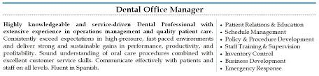 Dental Office Manager Resume Sample jennywashere - dental office manager  resume .