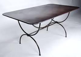 Table rectangulaire lacoste pied simple 2m x 1m Mobilier en fer ...