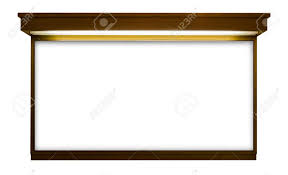 Signboard Template Blank Signboard Template For Text On Wooden Frame Isolated White