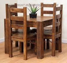 Rustic Farm 90cm Dining Table 4 Rustic Farm Chairs Chairs Rustic