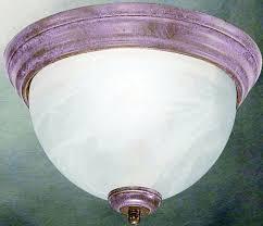 1 medium base 75w flush mount ceiling fixture brushed nickel 8 h x 13 w