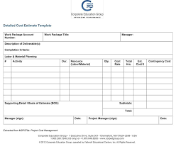 Sample Estimate Forms For Contractors 44 Free Estimate Template Forms Construction Repair