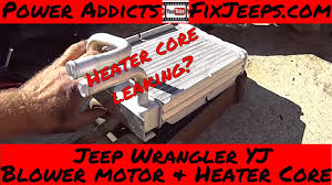 jeep wrangler yj heater core and blower motor swap pt1 jeep wrangler yj heater core and blower motor swap pt1