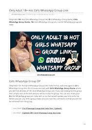 1000+ <b>Hot Sexy</b> WhatsApp Group Invite Links Collection <b>2019</b>