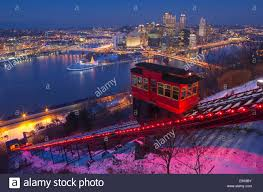 Christmas Lights In Pittsburgh Pa Christmas Lights Duquesne Incline Red Cable Car Mount