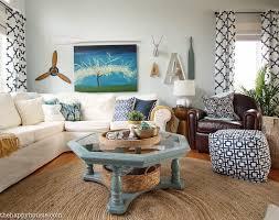 navy and white cozy coastal living room refresh at thehappyhousiecom15 cozy beach house living room a7 beach