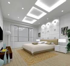 ... Interesting Images Of Various High Ceiling Lighting Ideas For Home  Interior Decoration : Handsome White Bedroom ...