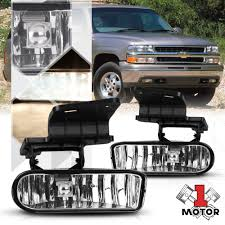 Details About Crystal Clear Fog Light Bumper Lamps For 99 02 Silverado 00 06 Suburban Tahoe