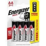 Купить <b>Батарейка ENERGIZER</b> (<b>3</b>+<b>1</b> шт) MAX E91/AA <b>1</b>,5V ...