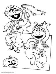 Small Picture Sesame Street Halloween coloring pages