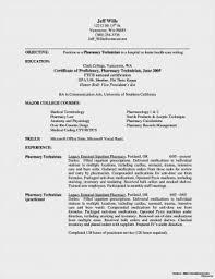 Pharmacy Technician Resume Objective Pharmacy Technician Resume Skills Resumes Tech Entry Level Retail 70