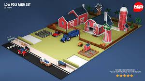 Farm Design Model Low Poly Farm Set