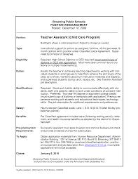 Child Care Resume Child Care Teacher Resume Sample Therpgmovie 73