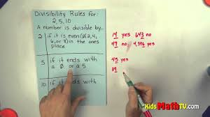 Math Divisibility Rules Chart Divisibility Rules If Dividing By 2 5 And 10 Teach Kids Easy Division Tricks