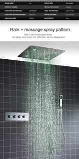 Luxus Multifunktionsdecke 20 Led Regen Spa Nebligen Duschkopf Mit Thermostat Brausegarnitur Gesetzt 20180927