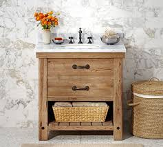 benchwright reclaimed wood single sink console wax pine finish