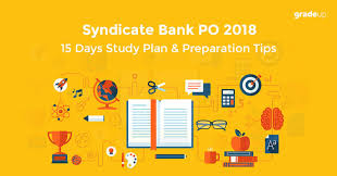Syndicate Bank How To Crack Syndicate Bank Po Exam In 15 Days Study Plan