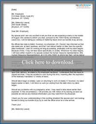 Examples Of Maternity Leave Letters