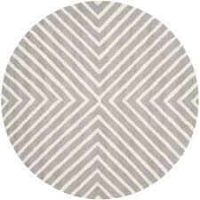 safavieh cambridge silver ivory 4 ft x 4 ft round area rug
