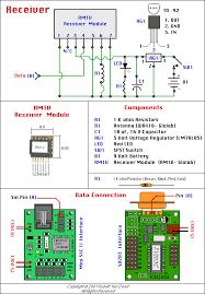 wireless control receiver schematic elprocus wireless control receiver schematic