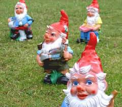 gnomes in diffe positions