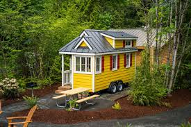 tiny house hotel. A White And Yellow Tiny Home Set In Campground Oregon. House Hotel R