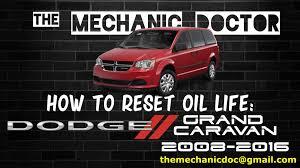 Reset Engine Light Dodge Caravan How To Reset Oil Life Dodge Grand Caravan 2008 2009 2010