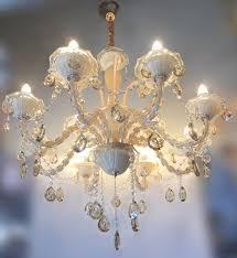 12 light luxury glass lamp crystal pendant italian chandelier
