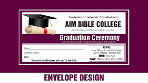 Graduation Program Invitation Designs How To Design A Professional Graduation Ceremony Envelope Photoshop Tutorial