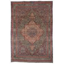 antique persian kermanshah area rug with art nouveau style for