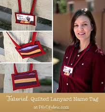 57 best Quilted Name Tags images on Pinterest | Stitching, Badges ... & Tutorial: Quilted Lanyard Name Tag Adamdwight.com