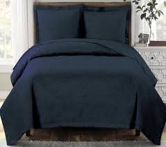 Modern Geometric Navy Blue Quilt Coverlet Set Oversized | Luxury ... & ... Modern Geometric Navy Blue Quilt Coverlet Set Oversized Adamdwight.com