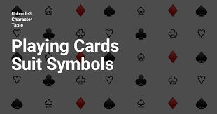 playing cards suits symbols