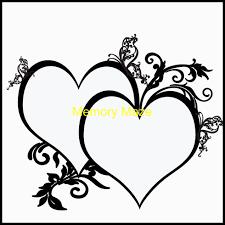8 X 10 Heart Template Double Heart 8 X 10inches Memorymaze