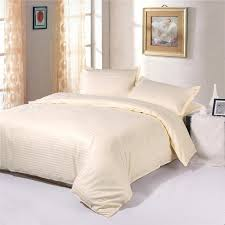 100 cotton 1cm satin cream colored hotel quality bedding sets duvet cover sets luxury bedding twin full queen king comfortable sets bedding duvets from