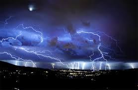 beautiful sky lighting in night image image