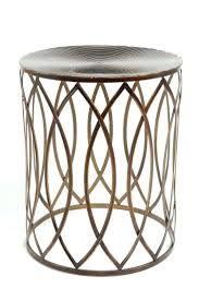 silver round side table metal end uk